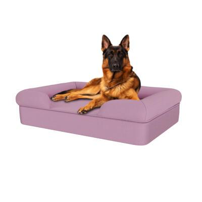 Memory Foam Bolster Dog Bed - Large - Lavender Lilac