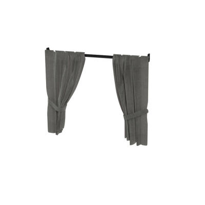 Maya Nook 24 Drapes & Drape Pole - Charcoal Grey