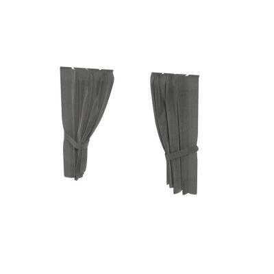 Maya Nook 24 Drapes - Charcoal Grey