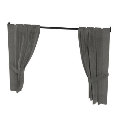 Maya Nook 36 Drapes & Drape Pole - Charcoal Grey
