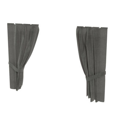Maya Nook 36 Drapes - Charcoal Grey