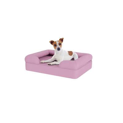 Memory Foam Bolster Dog Bed - Small - Lavender Lilac