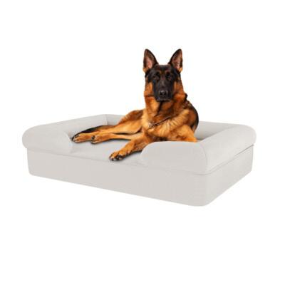 Memory Foam Bolster Dog Bed - Large - Meringue White