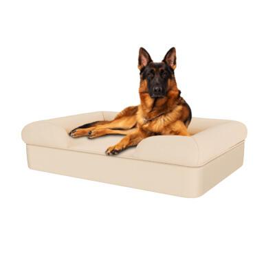 Memory Foam Bolster Dog Bed - Large - Natural Beige