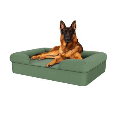 Memory Foam Bolster Dog Bed - Large - Sage Green