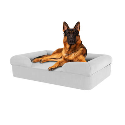 Memory Foam Bolster Dog Bed - Large - Stone Grey