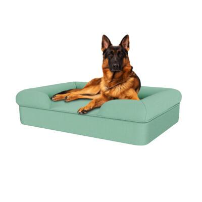 Memory Foam Bolster Dog Bed - Large - Teal Blue