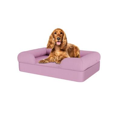 Memory Foam Bolster Dog Bed - Medium - Lavender Lilac