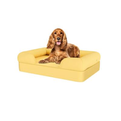 Memory Foam Bolster Dog Bed - Medium - Mellow Yellow