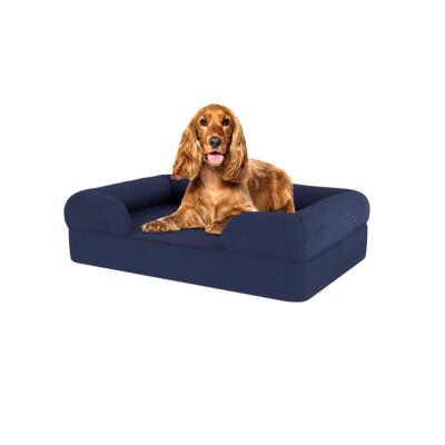 Memory Foam Bolster Dog Bed - Medium - Midnight Blue
