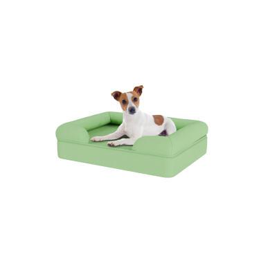 Memory Foam Bolster Dog Bed - Small - Matcha Green