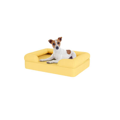 Memory Foam Bolster Dog Bed - Small - Mellow Yellow