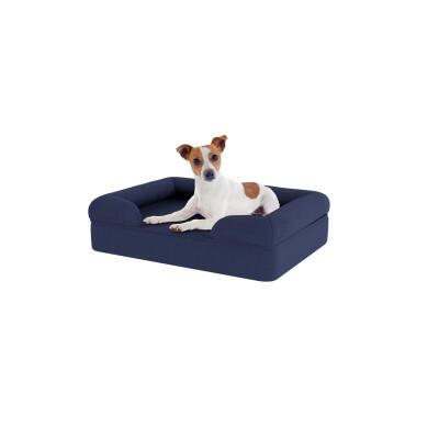 Memory Foam Bolster Dog Bed - Small - Midnight Blue