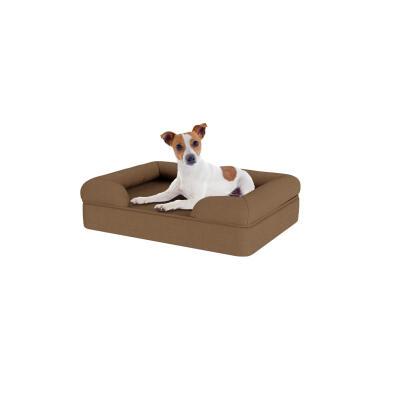 Memory Foam Bolster Dog Bed - Small - Mocha Brown