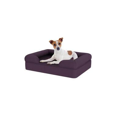 Memory Foam Bolster Dog Bed - Small - Plum Purple