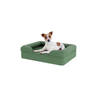 Memory Foam Bolster Dog Bed - Small - Sage Green