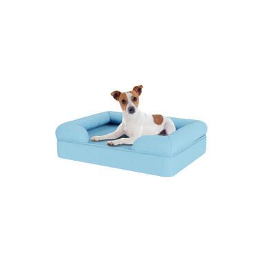 Memory Foam Bolster Dog Bed - Small - Sky Blue