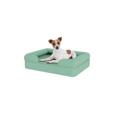 Memory Foam Bolster Dog Bed - Small - Teal Blue