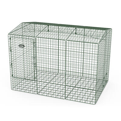 Zippi Guinea Pig Run with Roof and Underfloor Mesh - Double Height