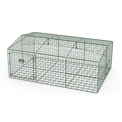Zippi Guinea Pig Run with Roof and Underfloor Mesh - Single Height