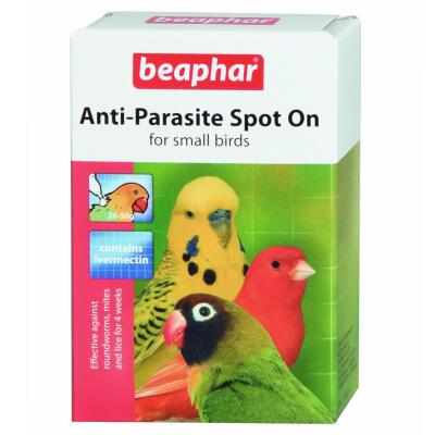 Pipettes antiparasitaires pour petit oiseau Beaphar - 2 pipette