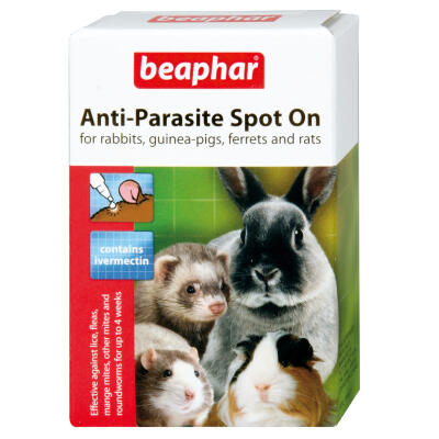 Beaphar Rabbit & Guinea Pig Anti-Parasite Spot On - 4 Tubes