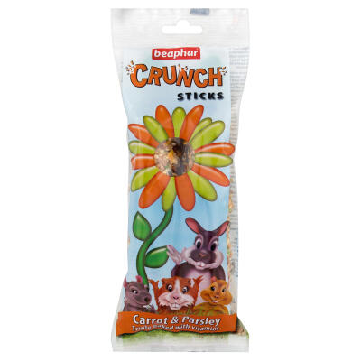 Beaphar Small Animal Crunch Sticks Carrot & Parsley