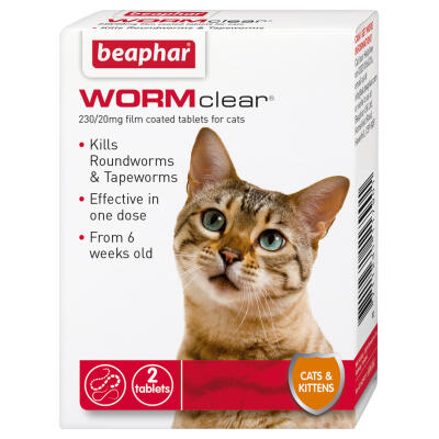 Beaphar Wormclear Cat 2 Tablets