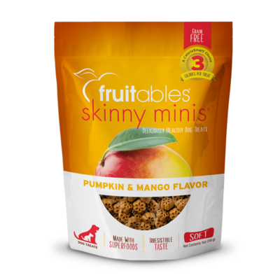 Fruitables Skinny Minis Dog Treats Pumpkin and Mango