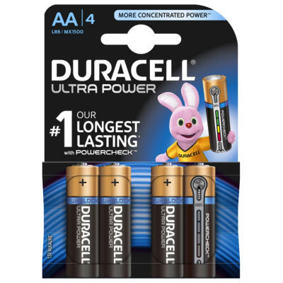 Duracell Plus Power AA LR6 Batteries - 4 Pack
