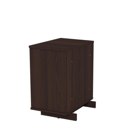 GRADE B - Fido Studio Boxed Wardrobe Assembly 24 Box C Walnut