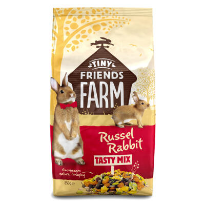 Tiny Friends Farm Russel Rabbit Tasty Mix - Konijnenvoer - 850g