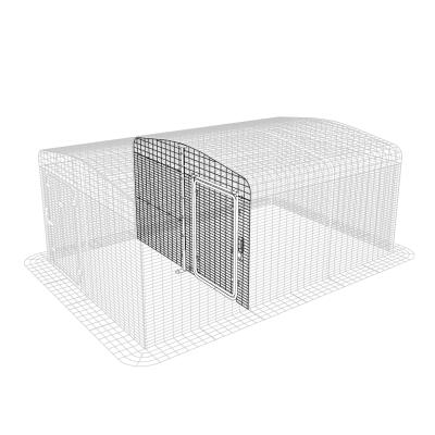 Outdoor Cat Run Partition Low with Gable - 2 Panels