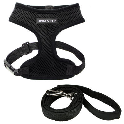 Urban Pup Jet Black Harness & Lead Set Large