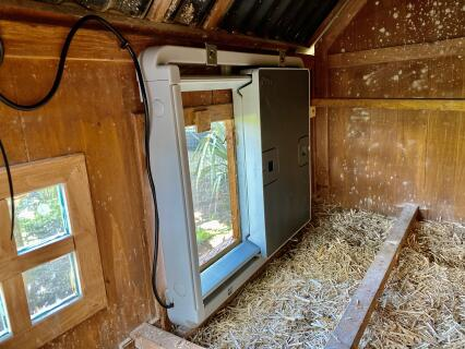 Adaptable to fit inside small timber coop