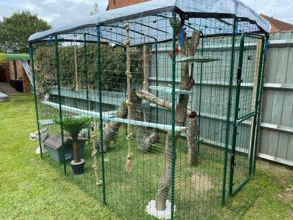 A few additions to the Omlet Catio and its another place for them to hide!...