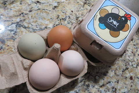 Perfect size for sharing your fresh eggs with friends and family