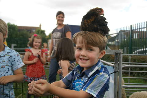 Jenson at his farm party!