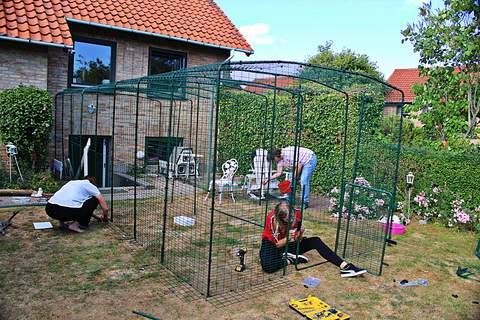 Bygning af kattegård