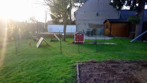 Der 21m Zaun ist perfekt und sehr stabil.