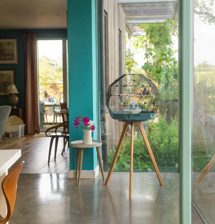 The breathtaking design of the Geo Bird Cage makes it a focal point for any room