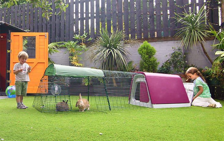 Eglu Go kaninbur gjør det lett å tilbringe tid med kaninene i hagen