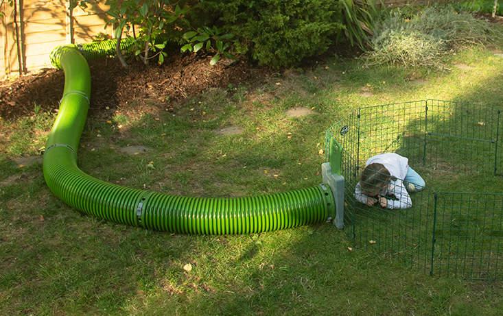 Zippi-tunnlarna låter dig koppla ihop din bur med en större gård