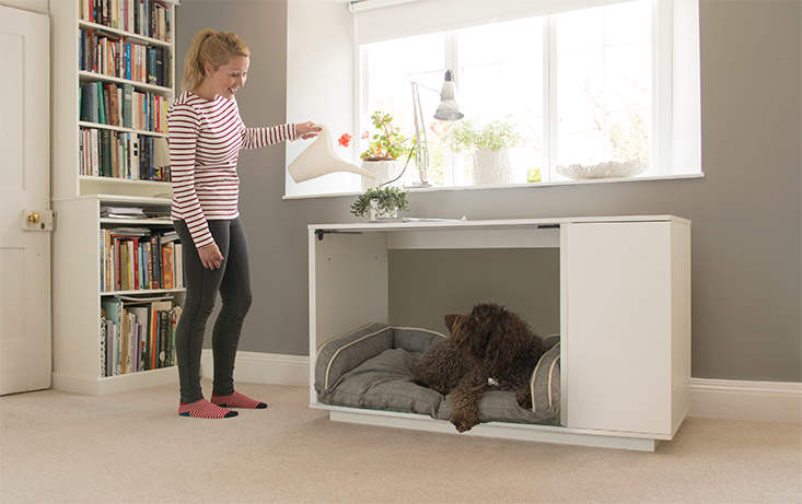 Fido Nook looks great encouraging you to bring their bed into the heart of your home.