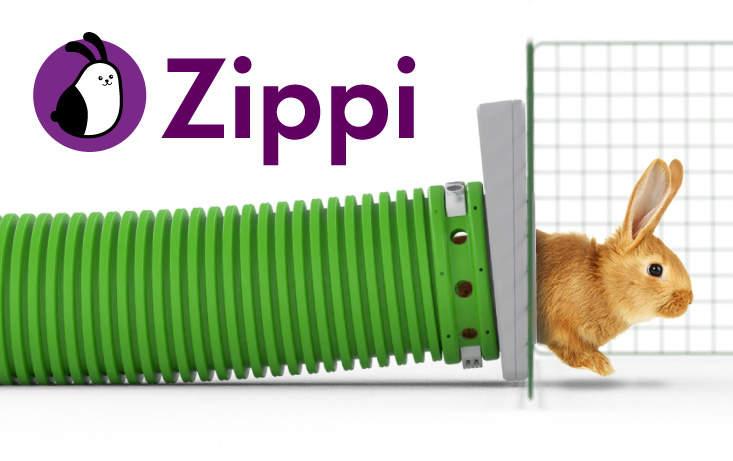 Le tunnel modulaire Zippi est fait pour relier un clapier à un enclos en toute sécurité