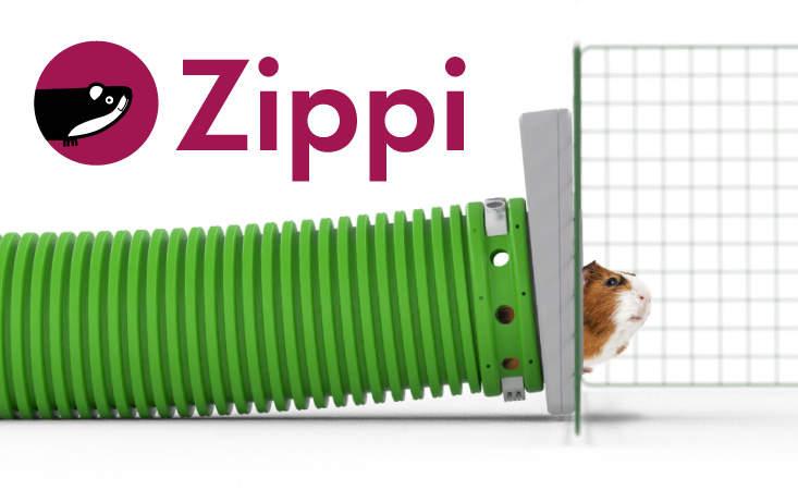 Découvrez le Zippi, le plus pratique des tunnels pour cochons d'Inde !