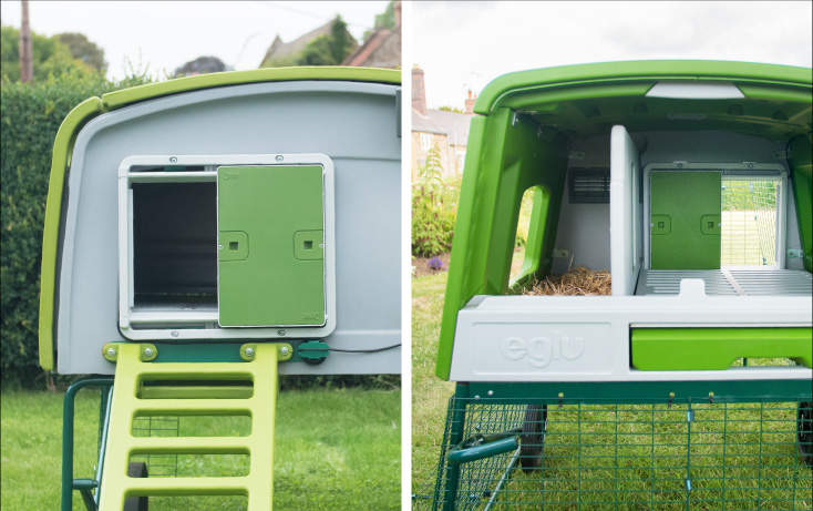 The Autodoor is compatible with both Eglu Cube Mk1 and Mk2