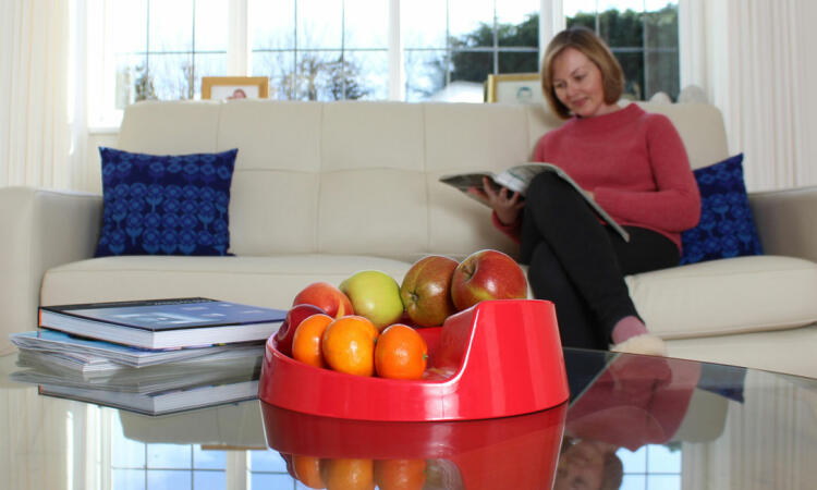 The fruit bowl looks great on display in any room