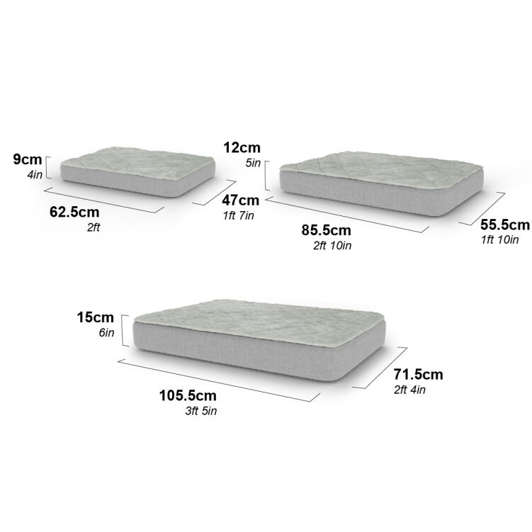 The Topology dog beds come in 3 different sizes, so you can find one that suits your dog's breed.