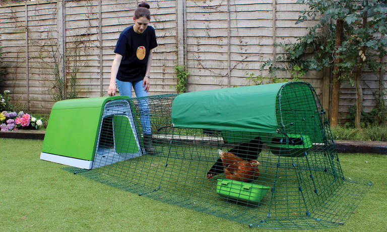 Eglu Go Chicken Coop - opening the front door